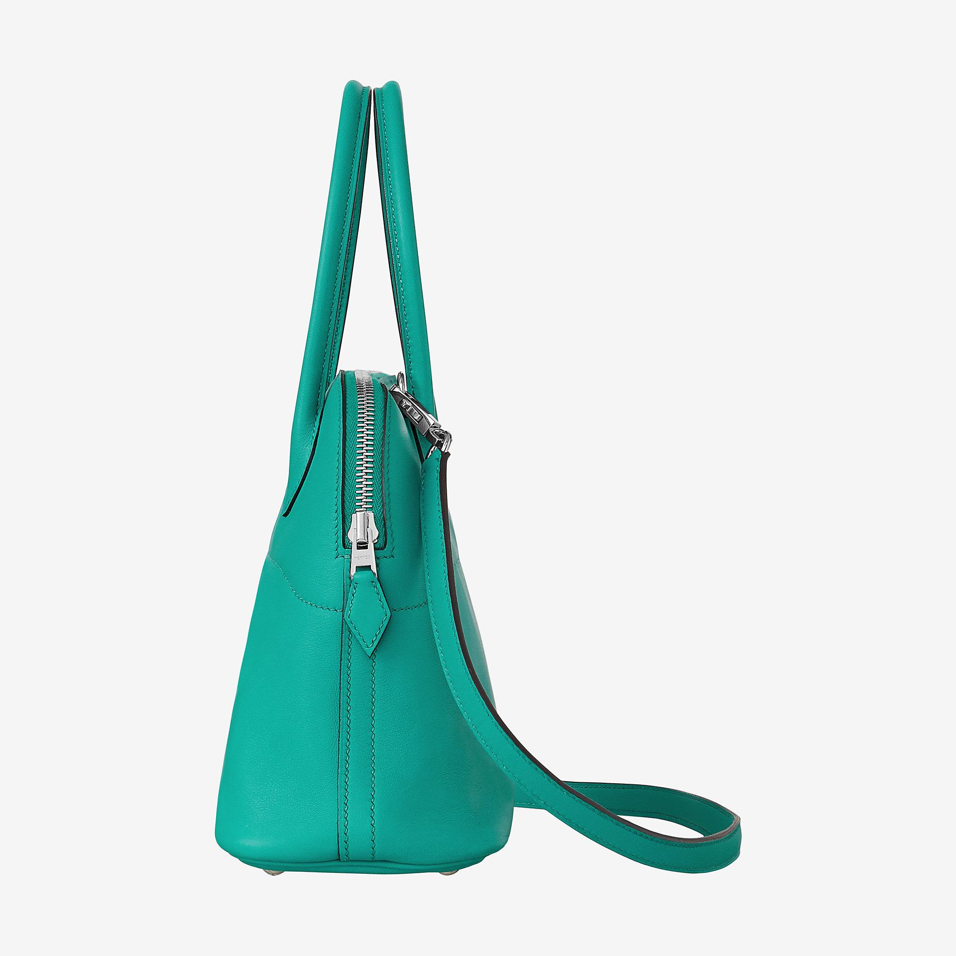 Saudi Arabia Hermes Bolide 27cm bag CK7F bleu paon Swift calfskin