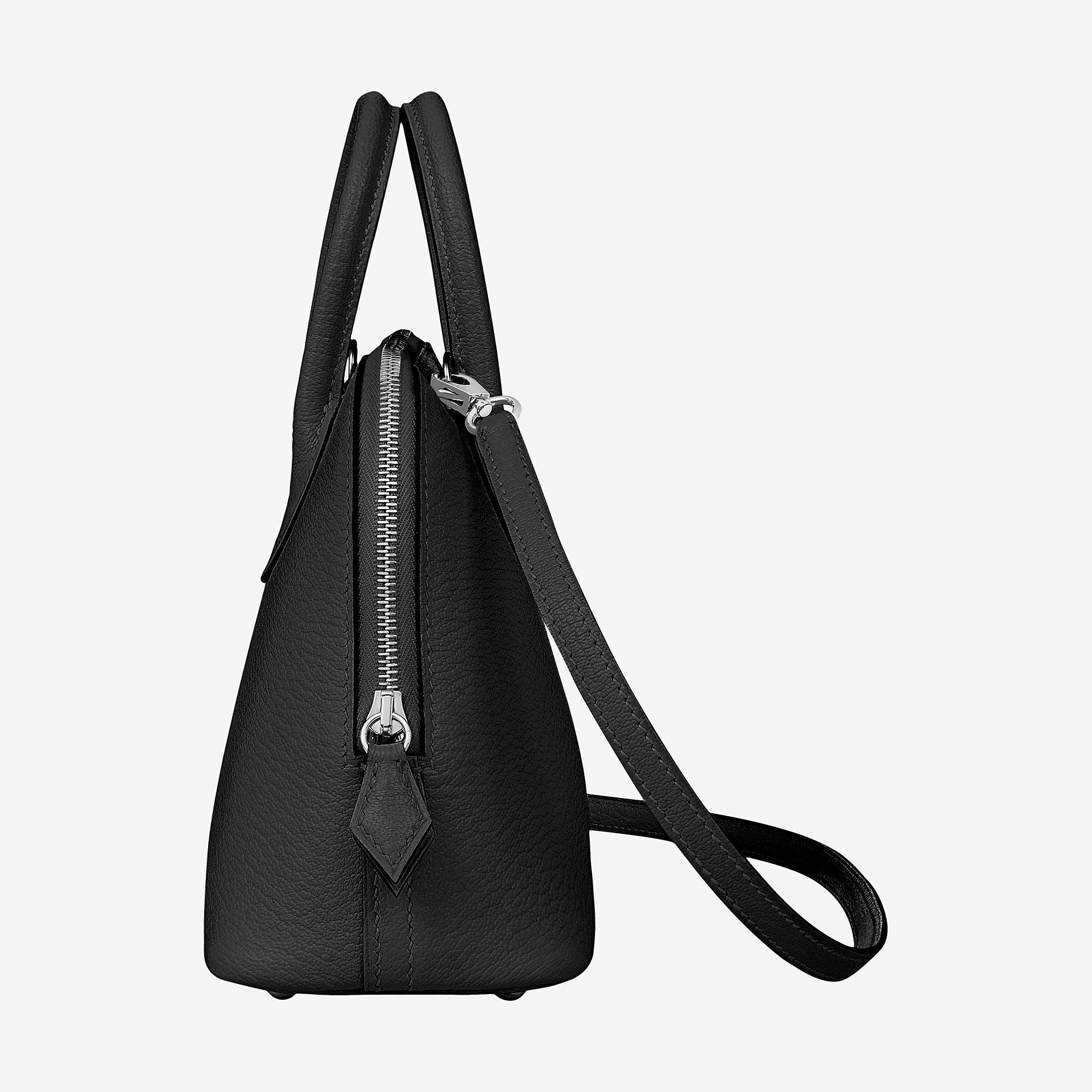 Hermes Bolide 1923 mini bag CK89 noir Mysore goatskin