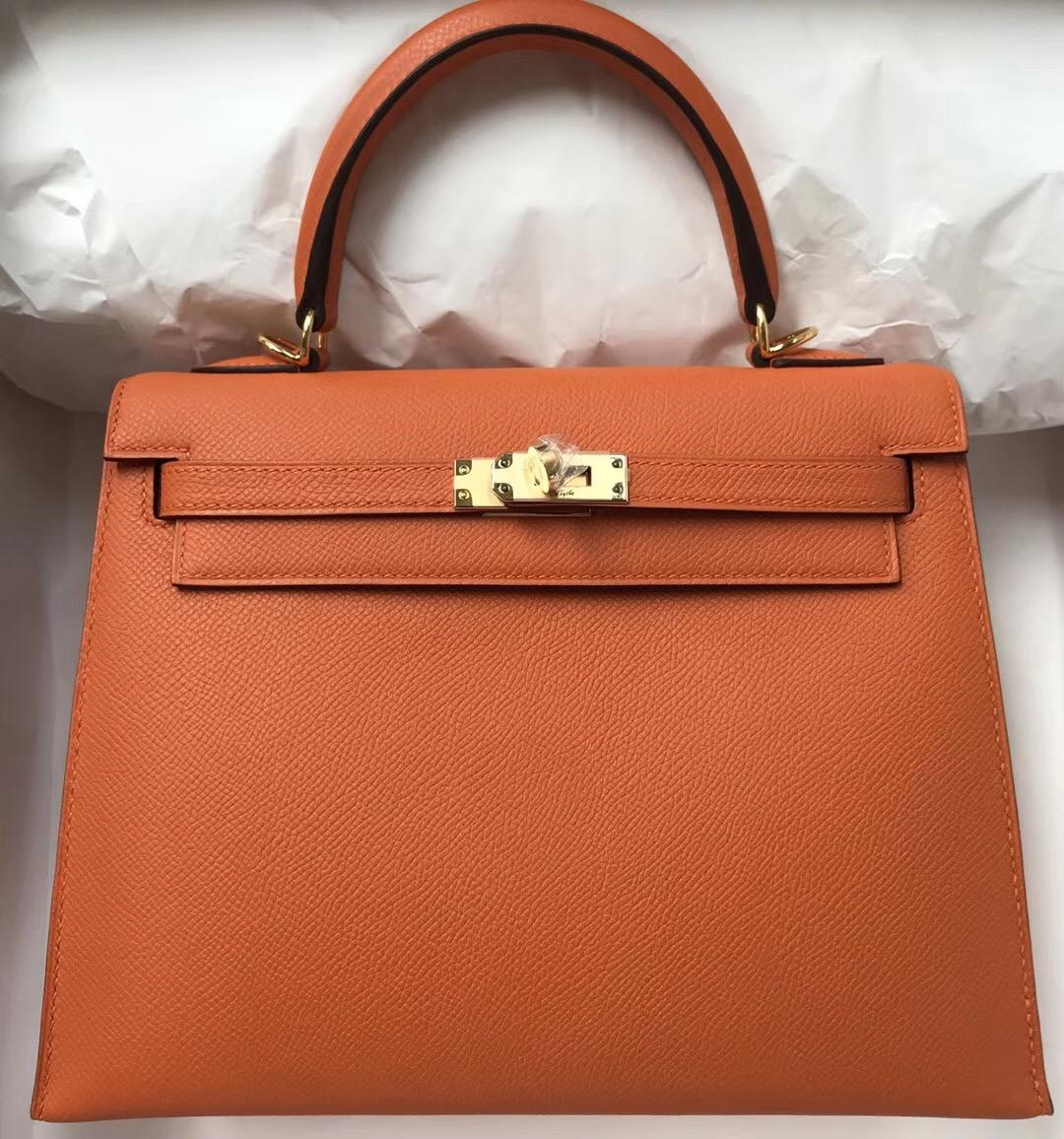爱马仕凯莉包价格_爱马仕凯莉包哪个尺寸更受欢迎 Hermes Kelly Bag 25 Swift 1H太妃糖色 ...