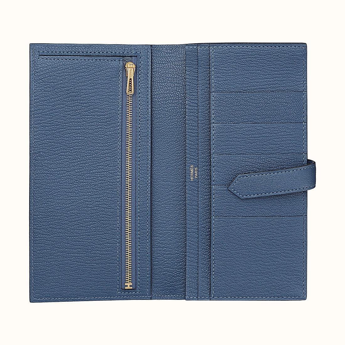 西貢區愛馬仕錢包價格多少錢 Hermes Bearn wallet CC7E Bleu Brighton