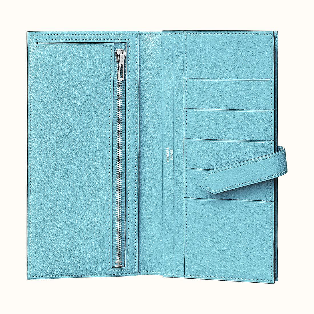 愛馬仕錢包 工匠號 刻印 Hermes Bearn wallet CKU2 Bleu Zéphyr 微風藍 山羊皮