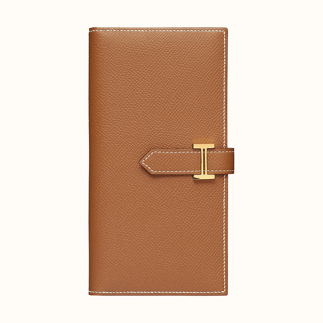 香港北區愛馬仕錢包 Hermes Bearn wallet CC37 Gold Epsom