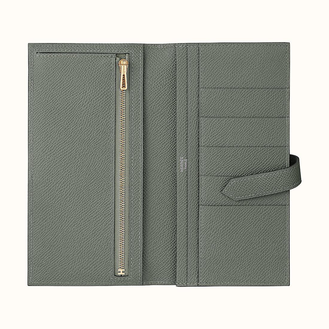 臺灣嘉義市愛馬仕錢包 Hermes Bearn wallet CC63 Vert Amande Epsom