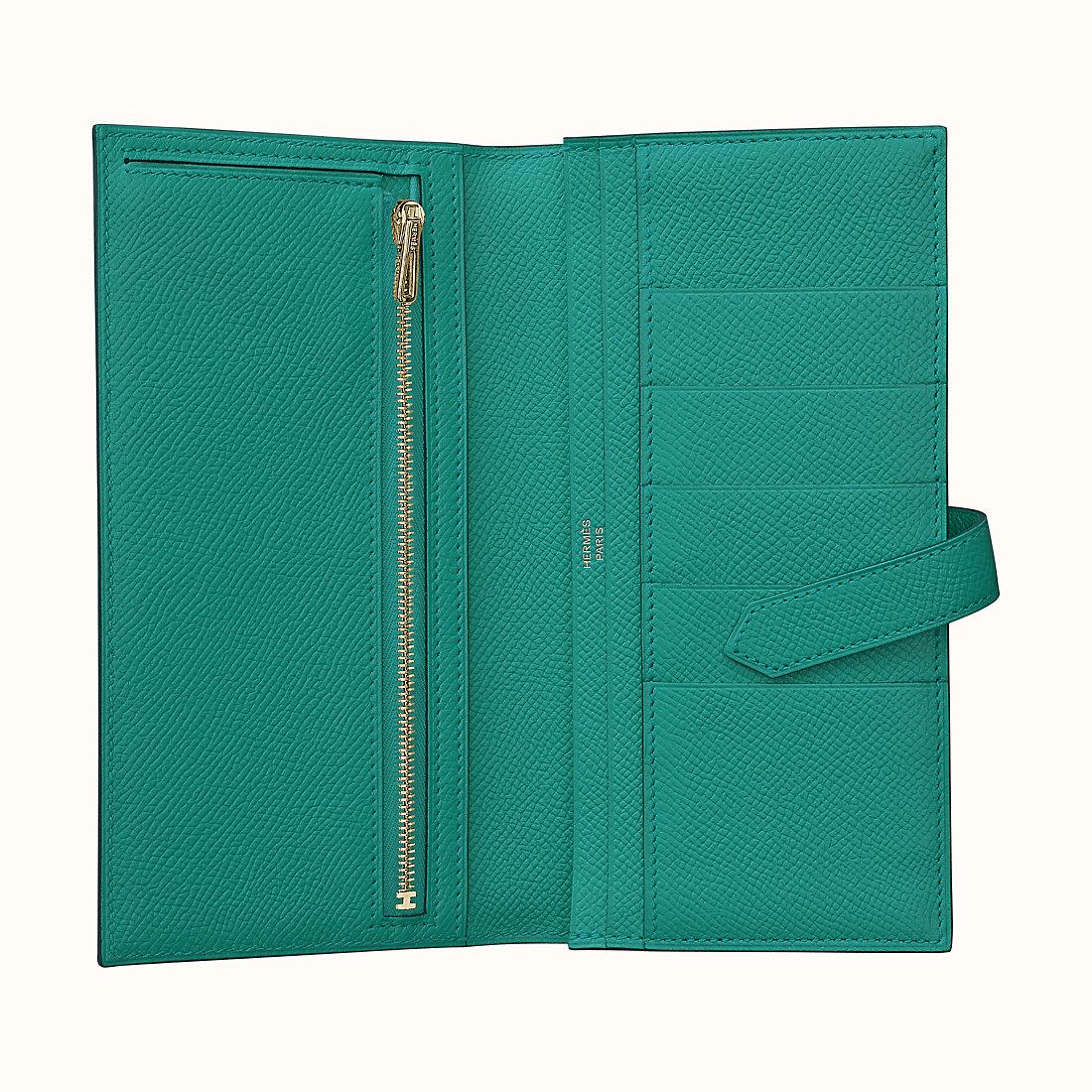 香港九龍城區愛馬仕扣板錢包 Hermes Bearn wallet CCU1 Vert Véronèse