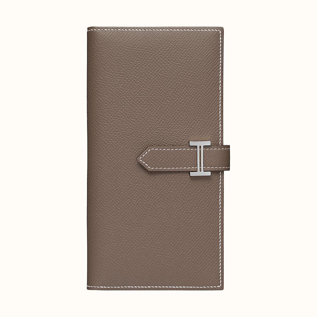 臺灣連江縣愛馬仕錢包 Hermes Bearn wallet CK18 Étoupe 大象灰