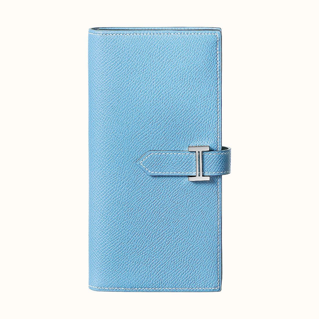臺灣彰化縣愛馬仕錢包 Hermes Bearn wallet CK7N Céleste 天藍色