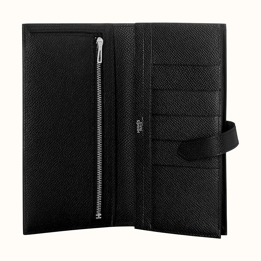 臺灣桃園縣愛馬仕錢包 Hermes Bearn wallet Epsom CK89 Noir