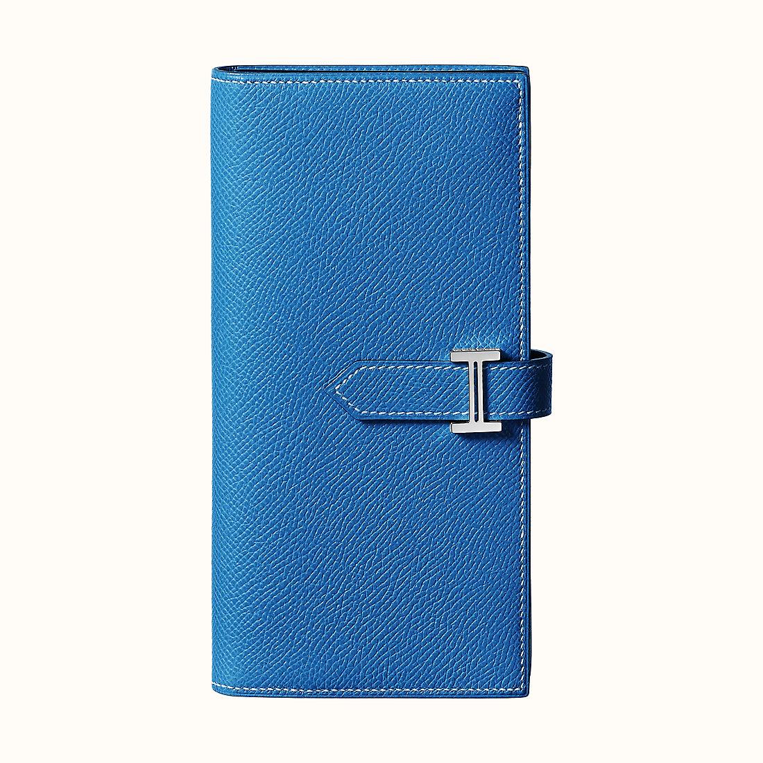 臺灣基隆市 Hermes Bearn wallet Epsom CKI7 Bleu Zellige 琉璃藍