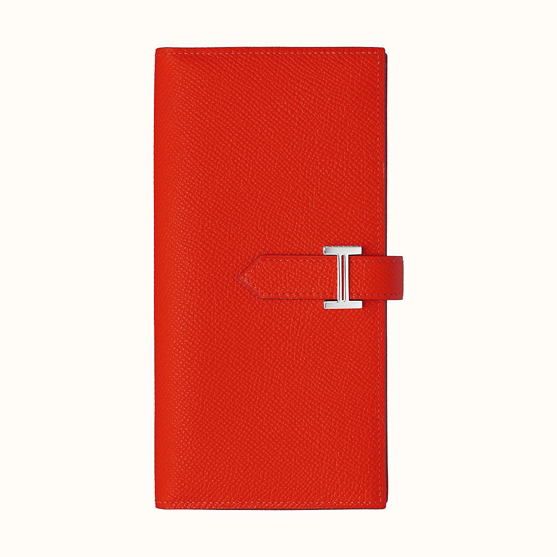 Hermes Bearn wallet CKS3 Rouge De Cœur Epsom calfskin