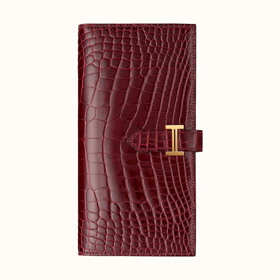 愛馬仕錢包價格和圖片 Hermes Bearn wallet CCF5 Bourgogne 勃艮第酒紅