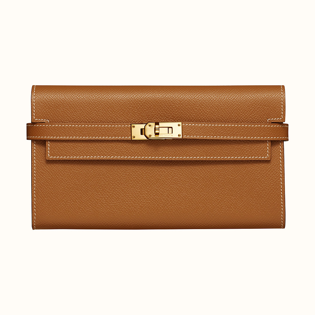 臺灣高雄市愛馬仕 Hermes Kelly classic wallet CC37 Gold 金棕色 Epsom