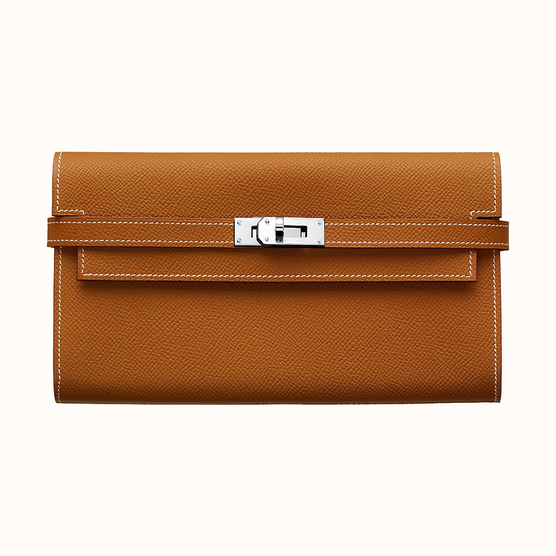 Hermes Kelly classic wallet CK37 Gold 金棕色 Epsom calfskin