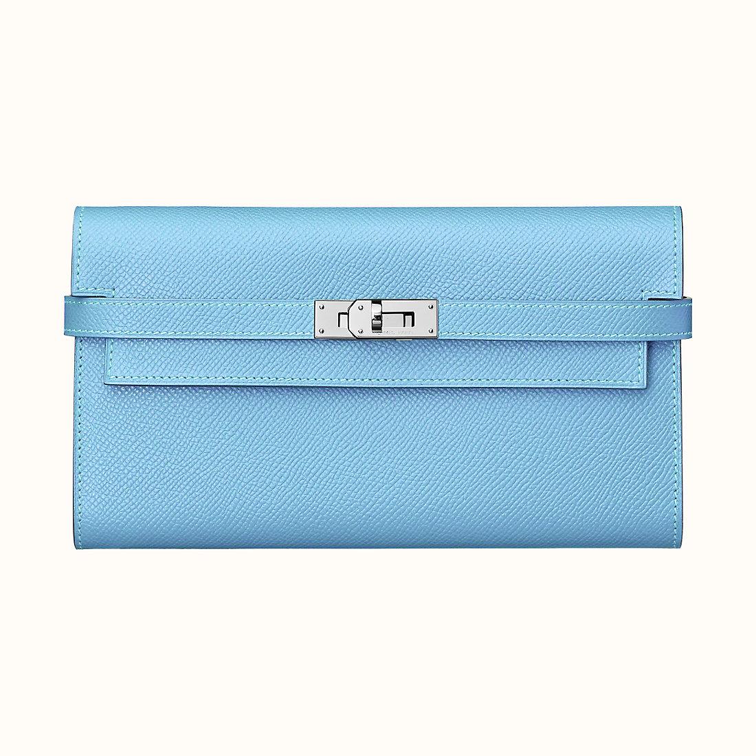 Hermes Kelly classic wallet CK7N Céleste 天蓝色