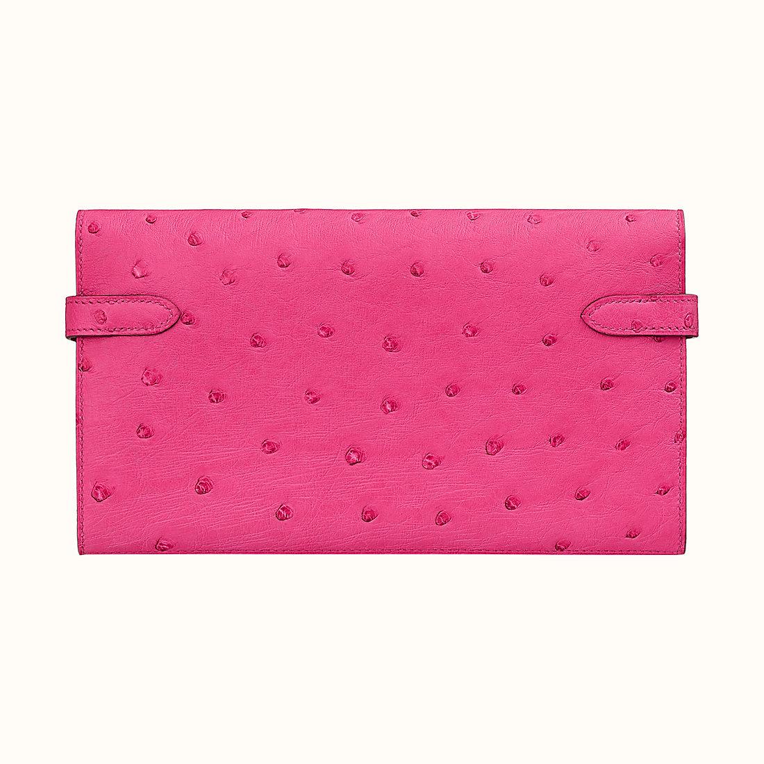 嘉義市愛馬仕凱莉錢包尺寸 Hermes Kelly classic wallet CKE5 Rose Tyrien