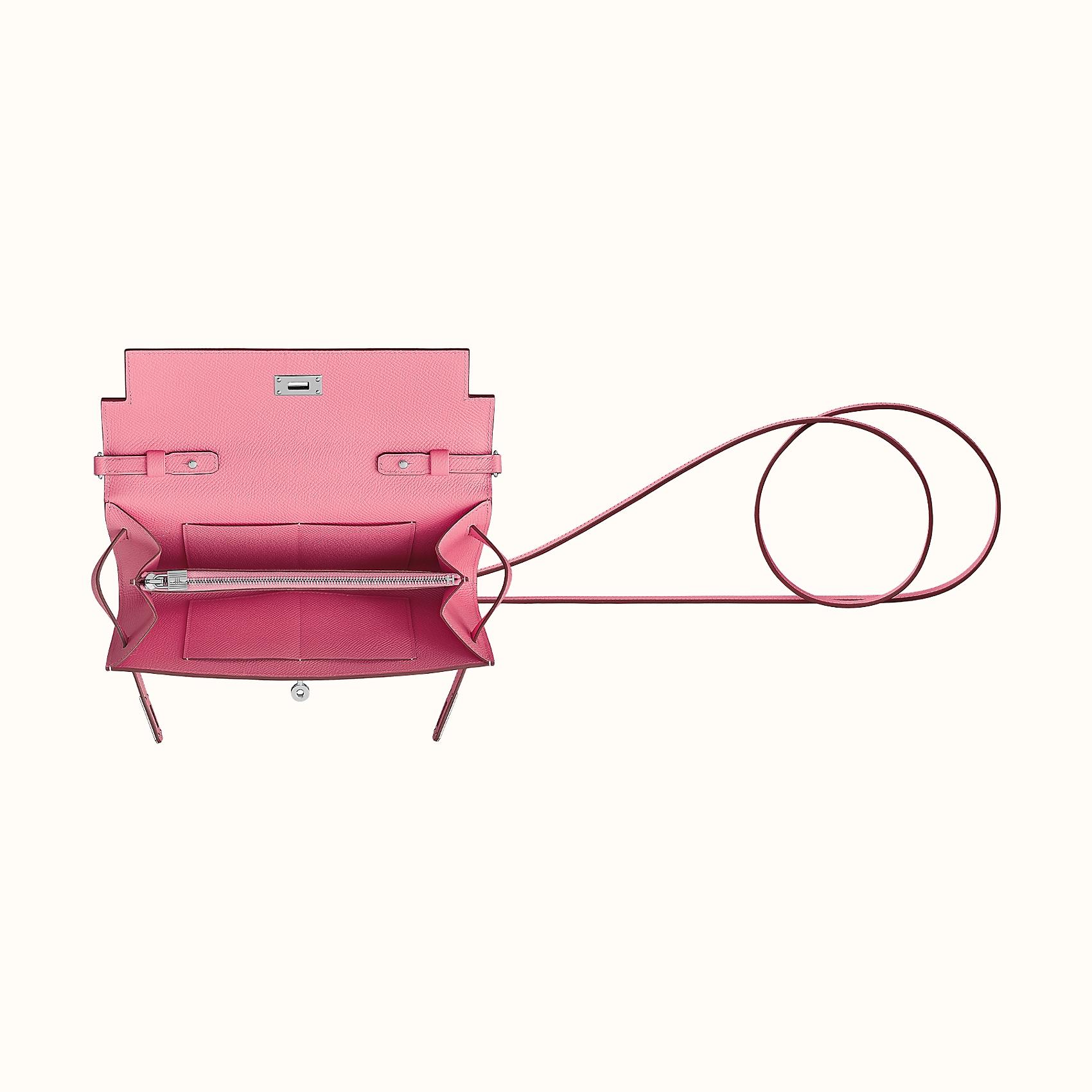 Hermes Portefeuille Kelly Classique To Go CK1Q Rose Confetti
