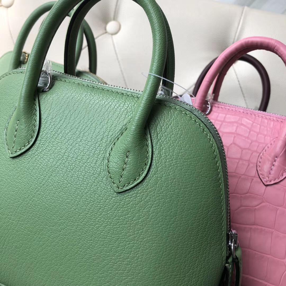 Hermes Bolide 1923 mini bag chevre 3I牛油果綠 Vert Criquet 蟋蟀綠