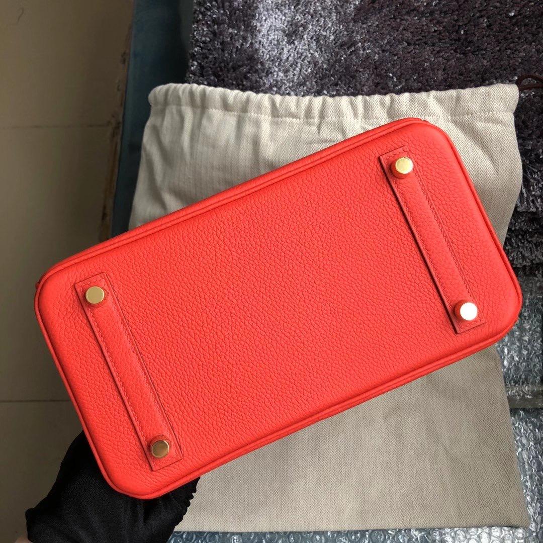 臺灣嘉義市 Hermes Birkin 25cm Togo D5天竺葵紅 géranium