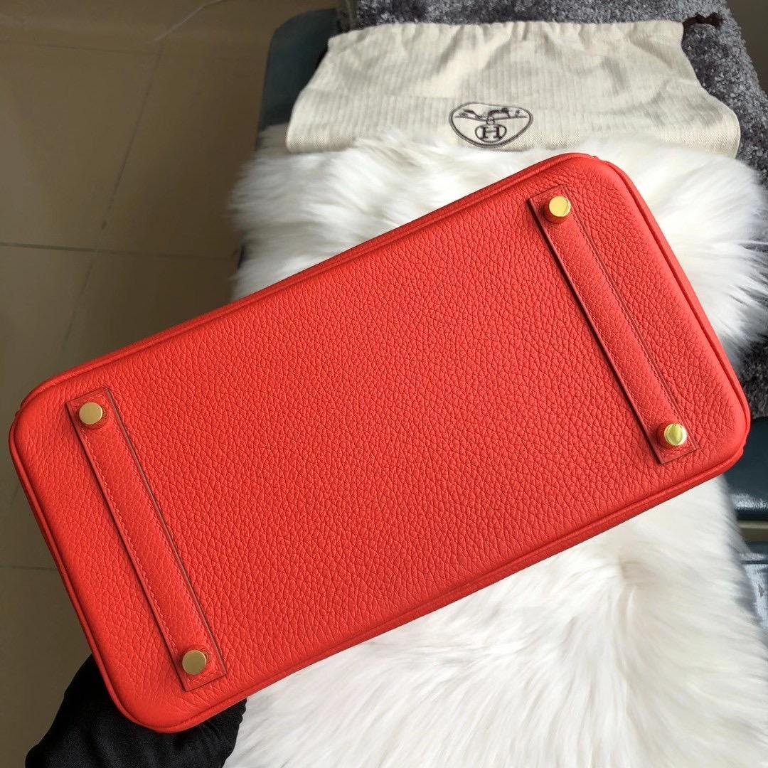 臺灣新北市愛馬仕鉑金包定制價格 Hermes Birkin 30cm D5天竺葵紅 géranium