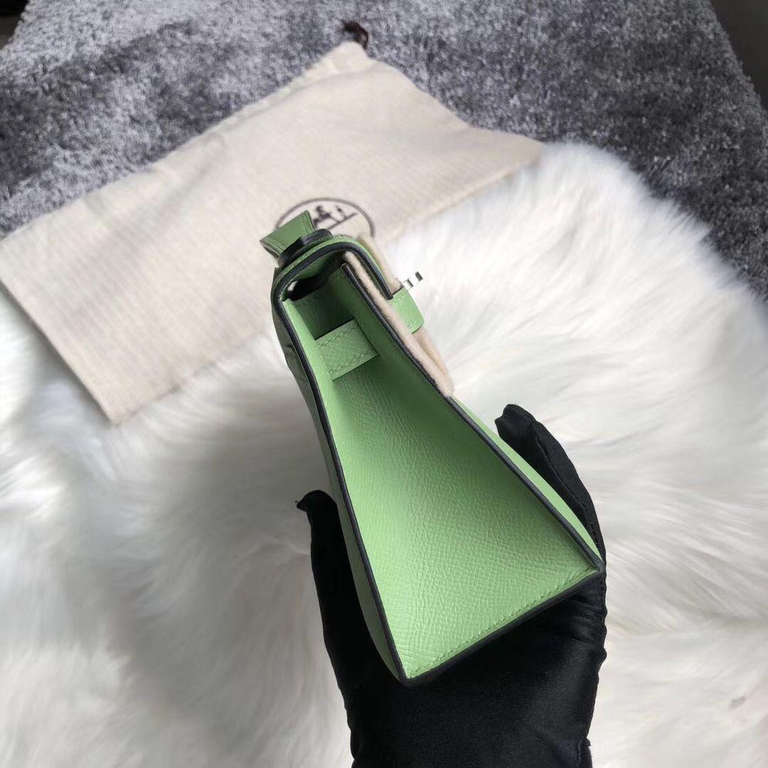 香港大埔區 Hermes MiniKelly Pochette Epsom 3I牛油果綠 Vert Criquet