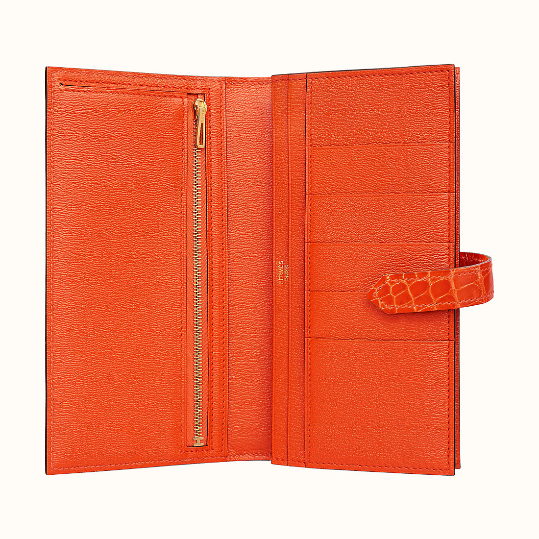臺灣臺北市 愛馬仕長款錢包多少錢 Hermes Bearn wallet CC8V Orange Poppy
