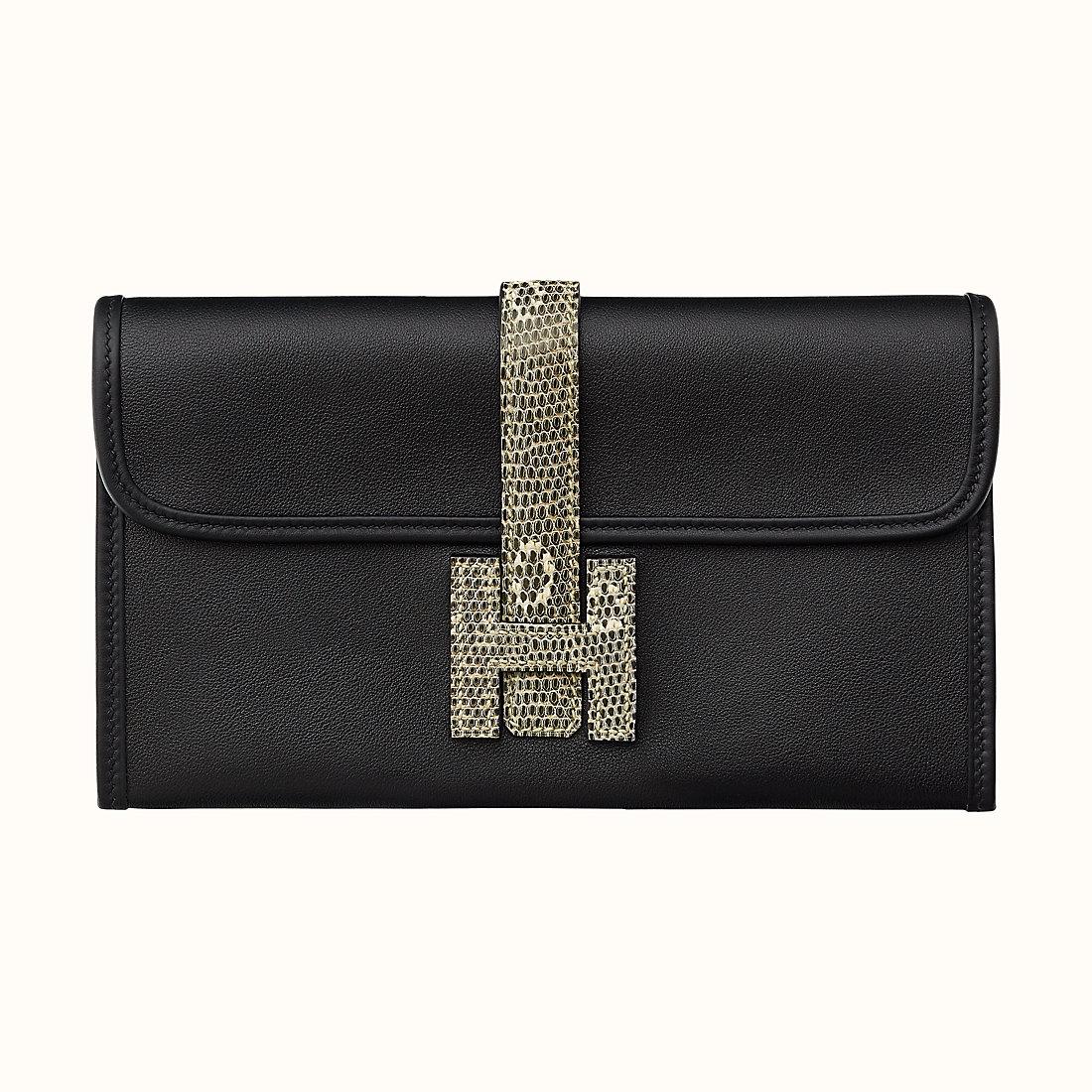 臺灣新北市愛馬仕長款錢包 Hermes Jige Duo wallet Noir/Ombre