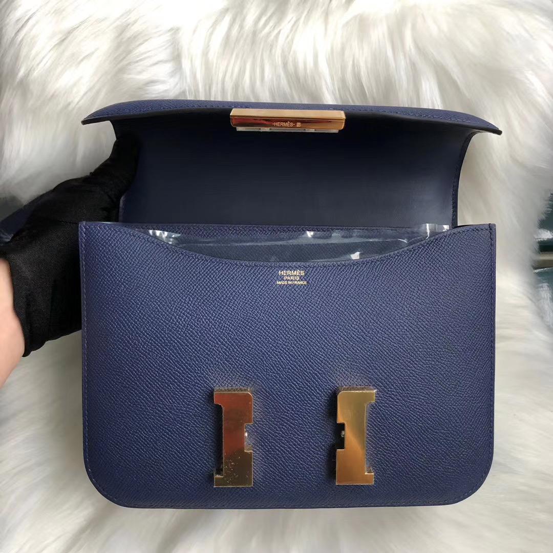臺灣臺北市中正區 Hermes Constance 24cm Epsom 73 Blue Sapphire