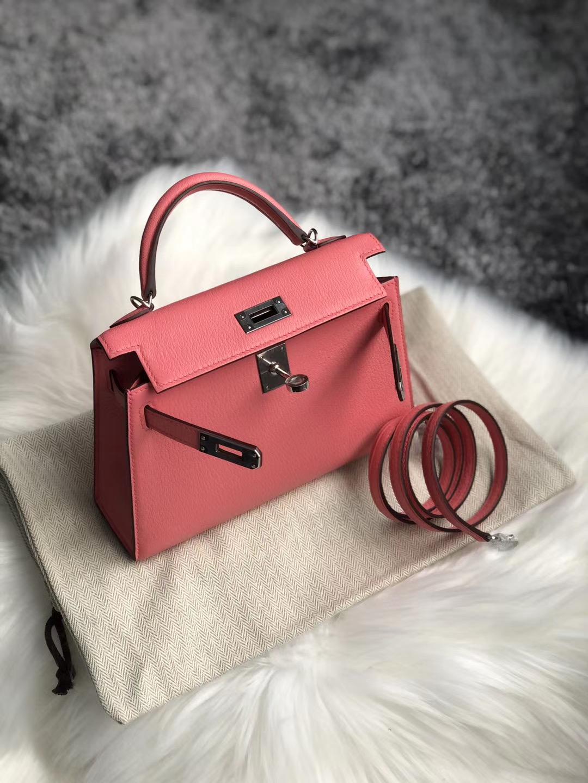 新北市板橋區 Hermes Kelly Mini II Handbag Chevre 8W Rose Azalée