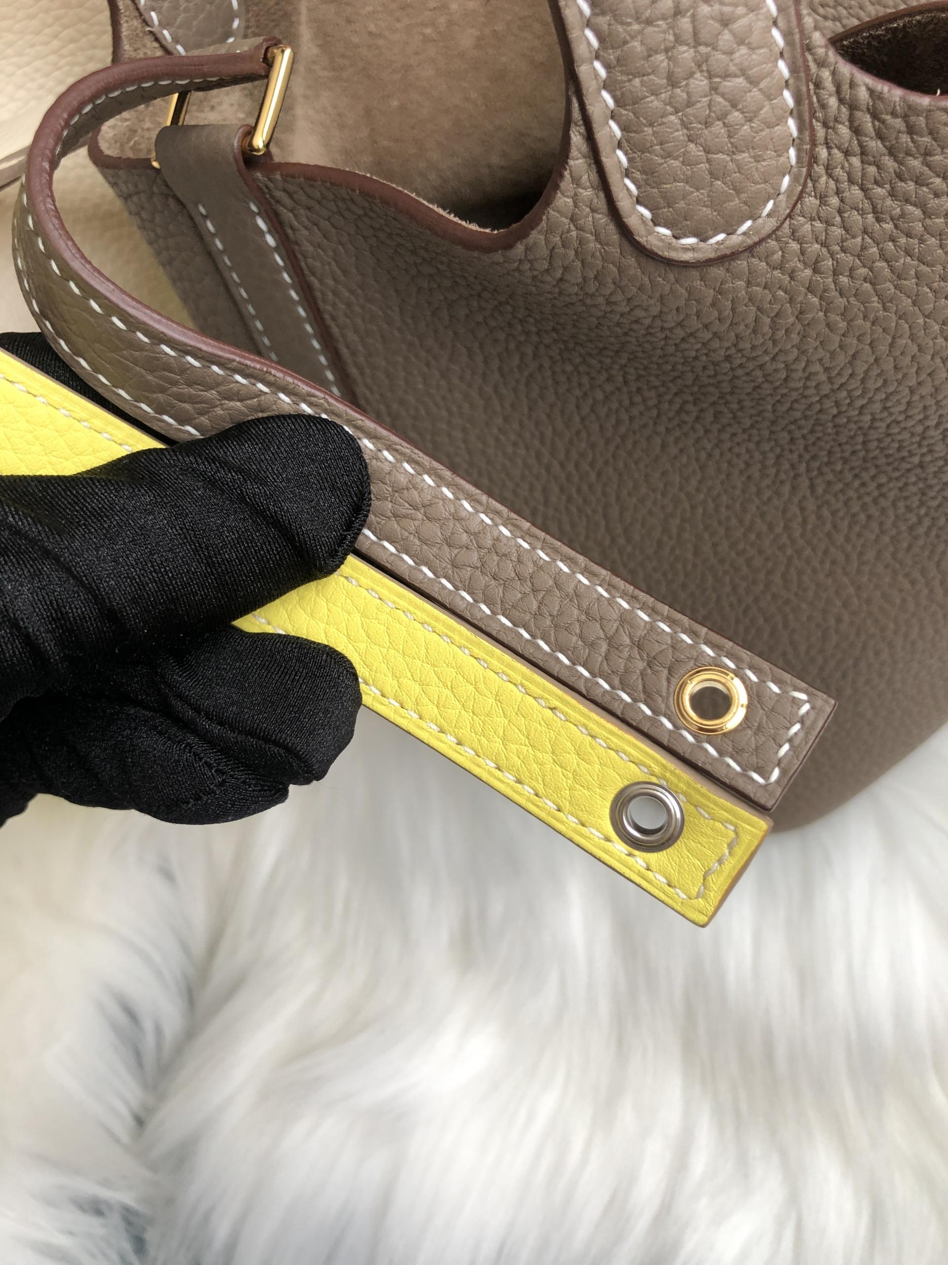 臺北市士林區 愛馬仕菜籃子 Hermes Picotin Lock 18 bag Clemence