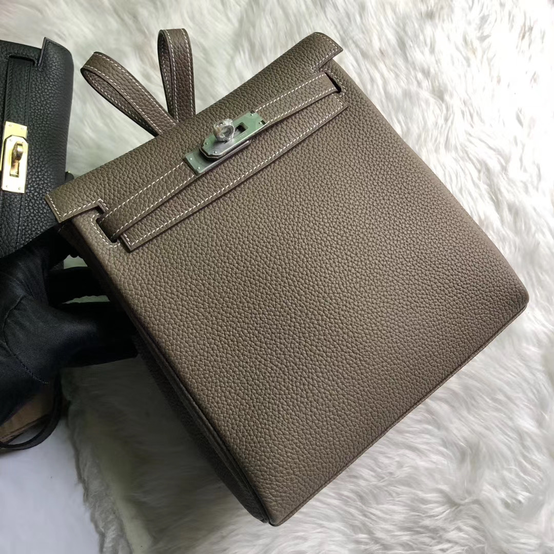 新北市汐止區愛馬仕包包 Hermes Kelly Ado Backpack CK18 Etoupe