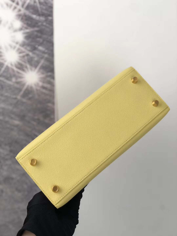 Hermes HSS Kelly 25cm 1Z小雞黃 jaune poussin 1Q奶昔粉 rose confetti