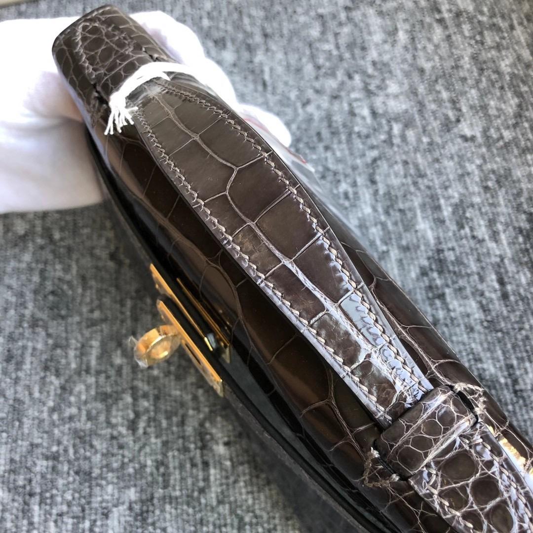 香港南區石澳愛馬仕女包價格 Hermes MiniKelly Pochette CC88 Graphite 石墨灰
