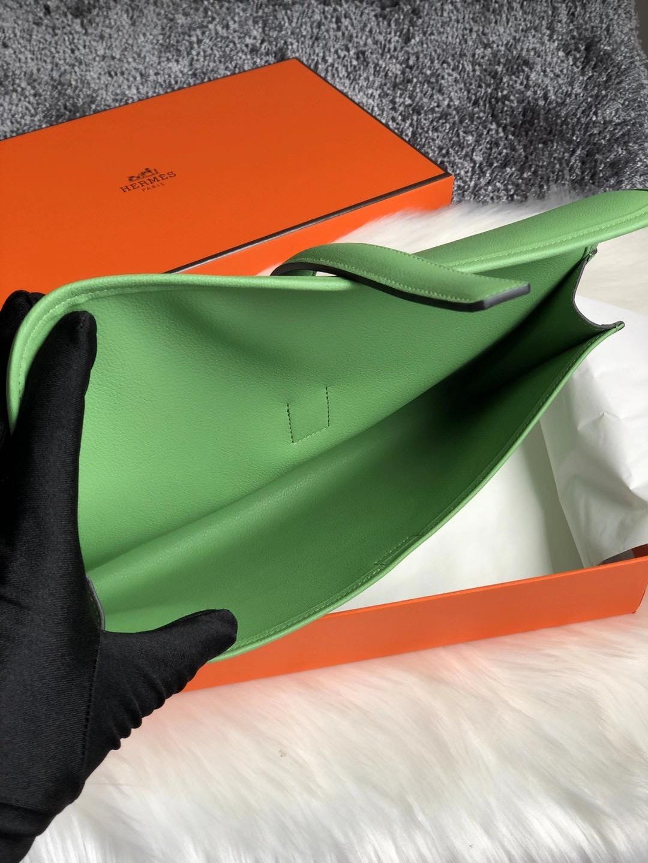 香港南區淺水灣 愛馬仕包包 Hermes Jige Elan 29 Swift 3I 牛油果綠 Vert Criquet