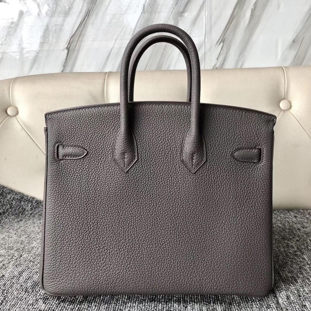 臺北市南港區 愛馬仕鉑金包價格 Hermes Birkin 25cm Togo 8F Etain