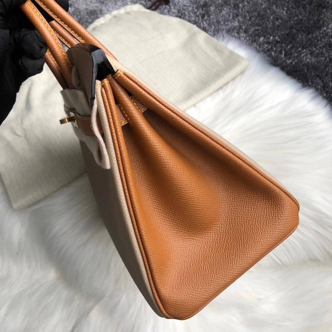 灣仔區香港會議展覽中心 鉑金包 Hong Kong Hermes Birkin 25cm S2 風衣灰 37金棕色