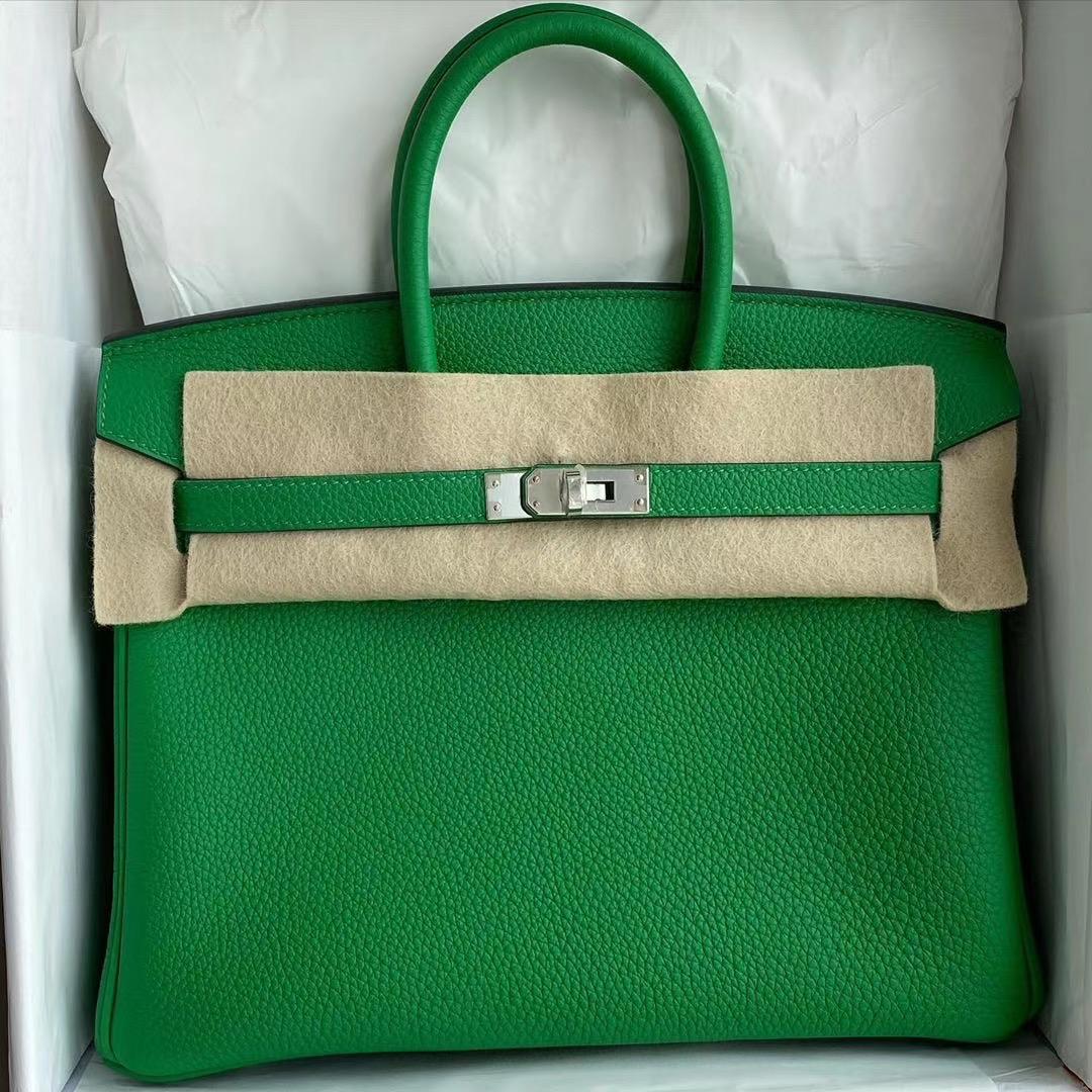 愛馬仕的鉑金包多少錢 Hermes Birkin 25cm Togo 1K bambou 竹子綠