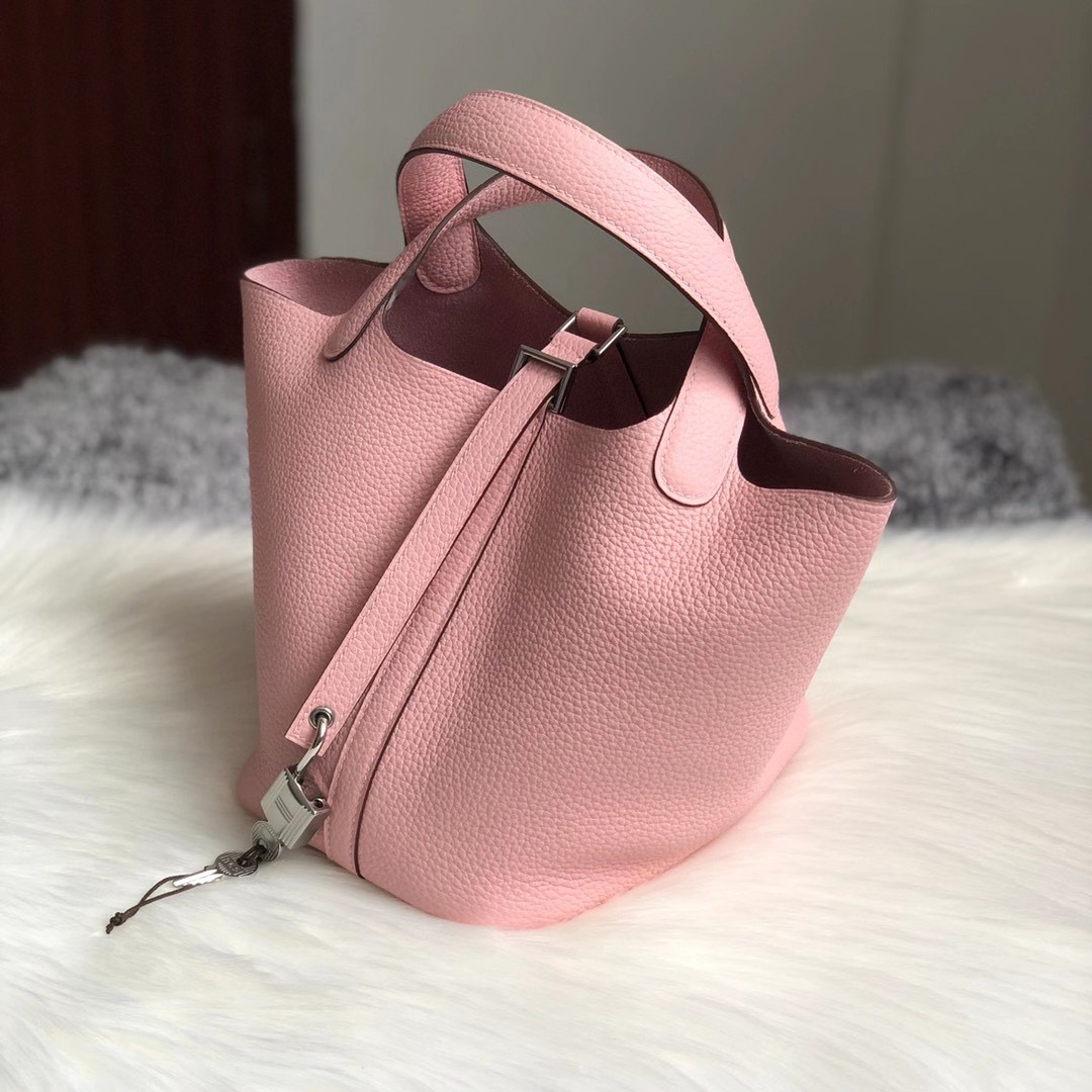 香港荃灣區荃灣 愛馬仕菜籃子18價格 Hermes Picotin Lock 18cm CK3Q Rose Sakura