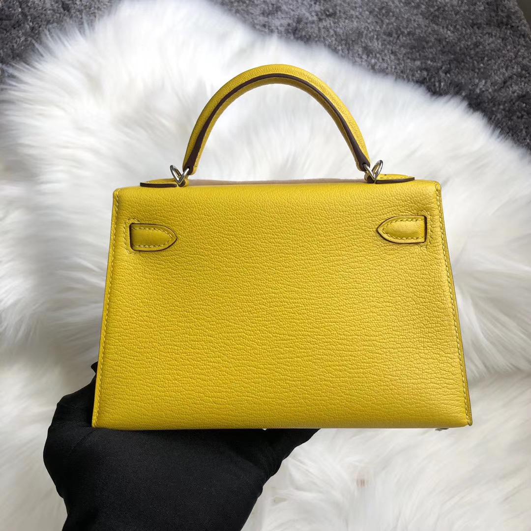 新北市蘆洲區 Hermes Kelly Mini II Handbag Chevre 9D Amber 琥珀黃