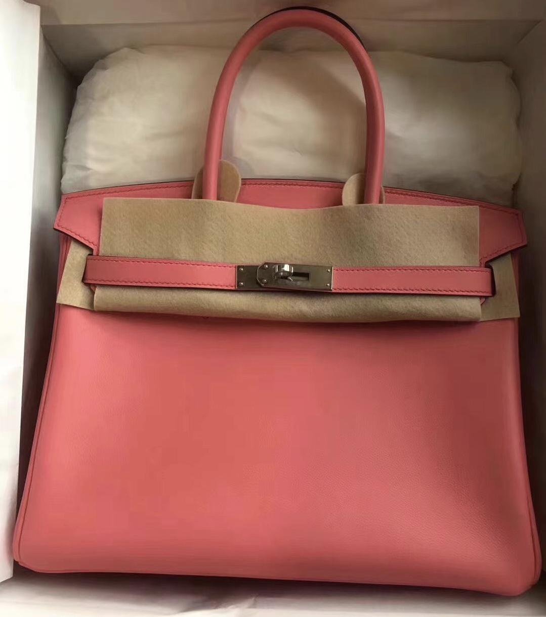 Hong Kong Hermes Birkin 30cm Swift K4 Rose Dete 夏日粉 PHW