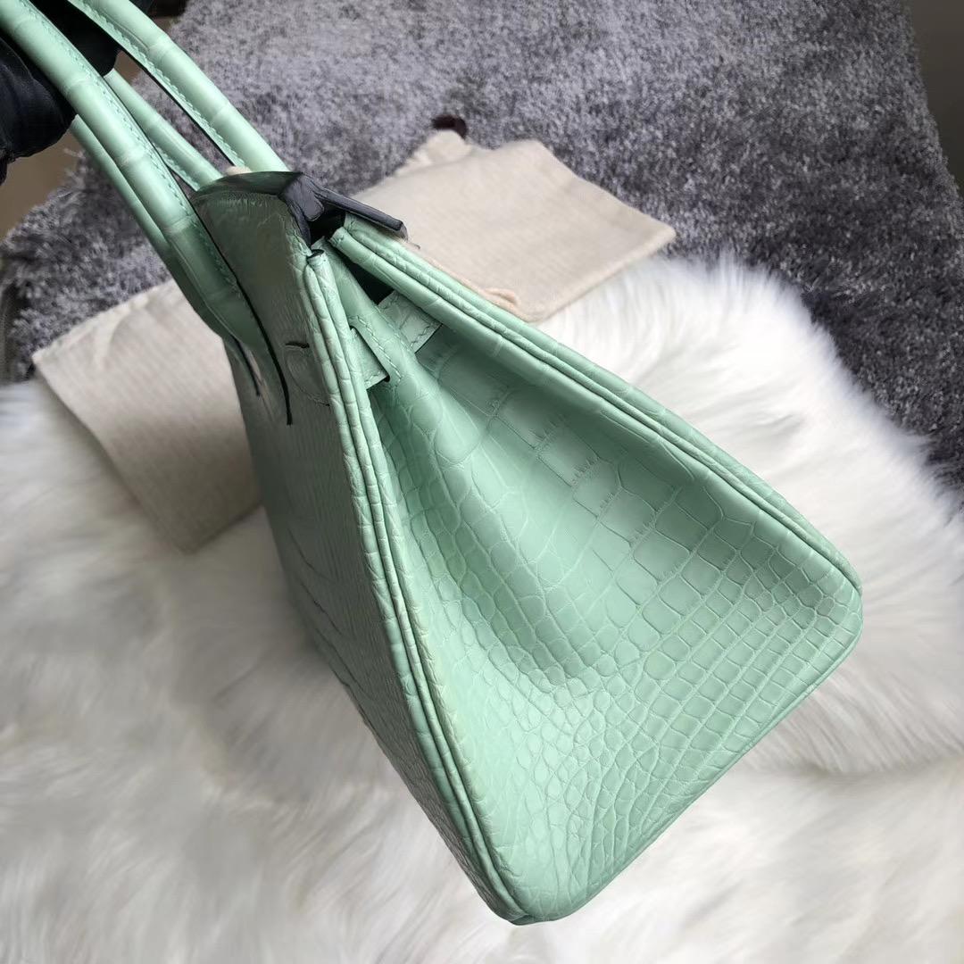 高雄市林園區 Hermes Birkin 30cm Handbag 6U mint green 薄荷綠