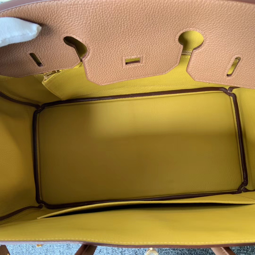 新北市 Taiwan Hermes Birkin 35cm Togo 37 Gold 金棕色 雙杠 9D Amber 琥珀黃