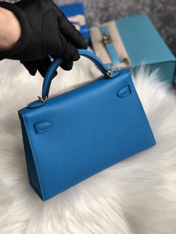 臺北市中山區 愛馬仕凱莉迷妳二代價格 Taiwan Hermes Kelly Mini II 2代 藍色系列