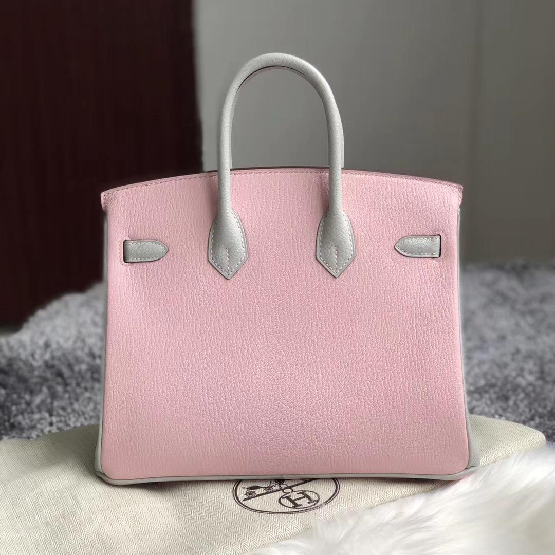 西貢 調景嶺 Hermes Birkin 25cm HSS Chevre 3Q 新粉色 Rose Sakura 80 griss pearl 珍珠灰