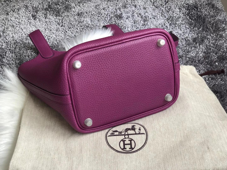 臺灣臺北市中山區 Hermes Picotin Lock 18 P9 Anemone 海葵紫 taurillon Clemence