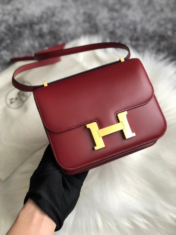 愛馬仕康康包價格是多少? Hermes Constance 18cm Box 55 Rouge H 愛馬仕紅