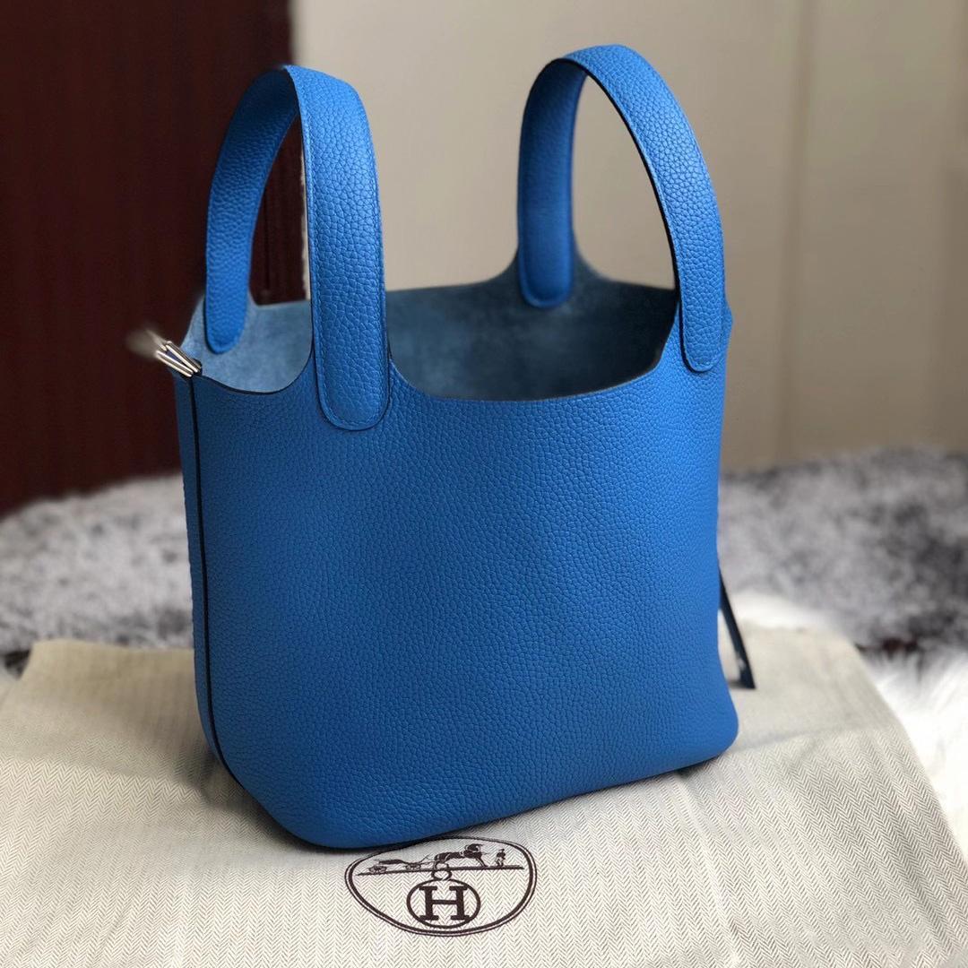 愛馬仕菜籃子香港價格多少錢 Hermes Picotin Lock 18cm B3 坦桑尼亞藍 Blue Zanzibar