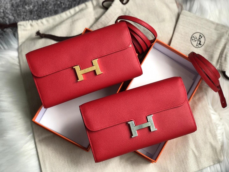 香港大嶼山區 竹篙灣 區貝澳 Hermes Constance wallet to go Q5 Rose casaque 國旗紅