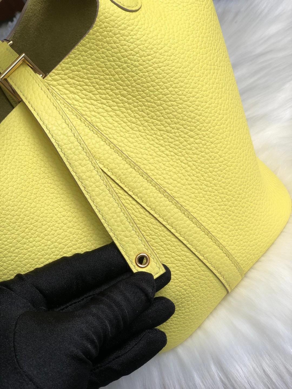 油尖旺區 油麻地 佐敦 Hermes Picotin 18cm taurillon Clemence 9R Lime 檸檬黃