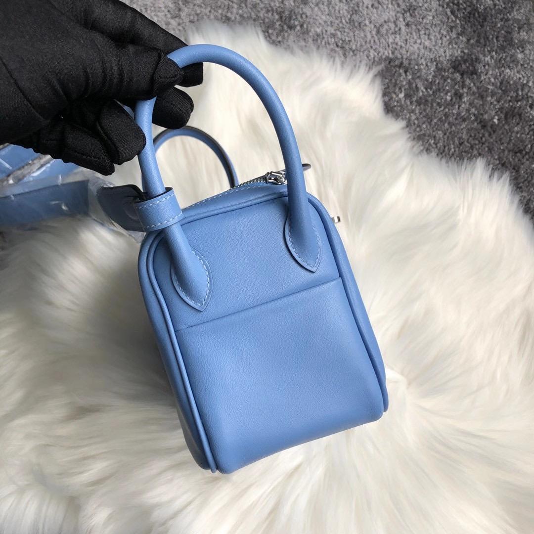 香港沙田區沙田 Hermes Mini Lindy Swift P3 Blue de nord 北方藍