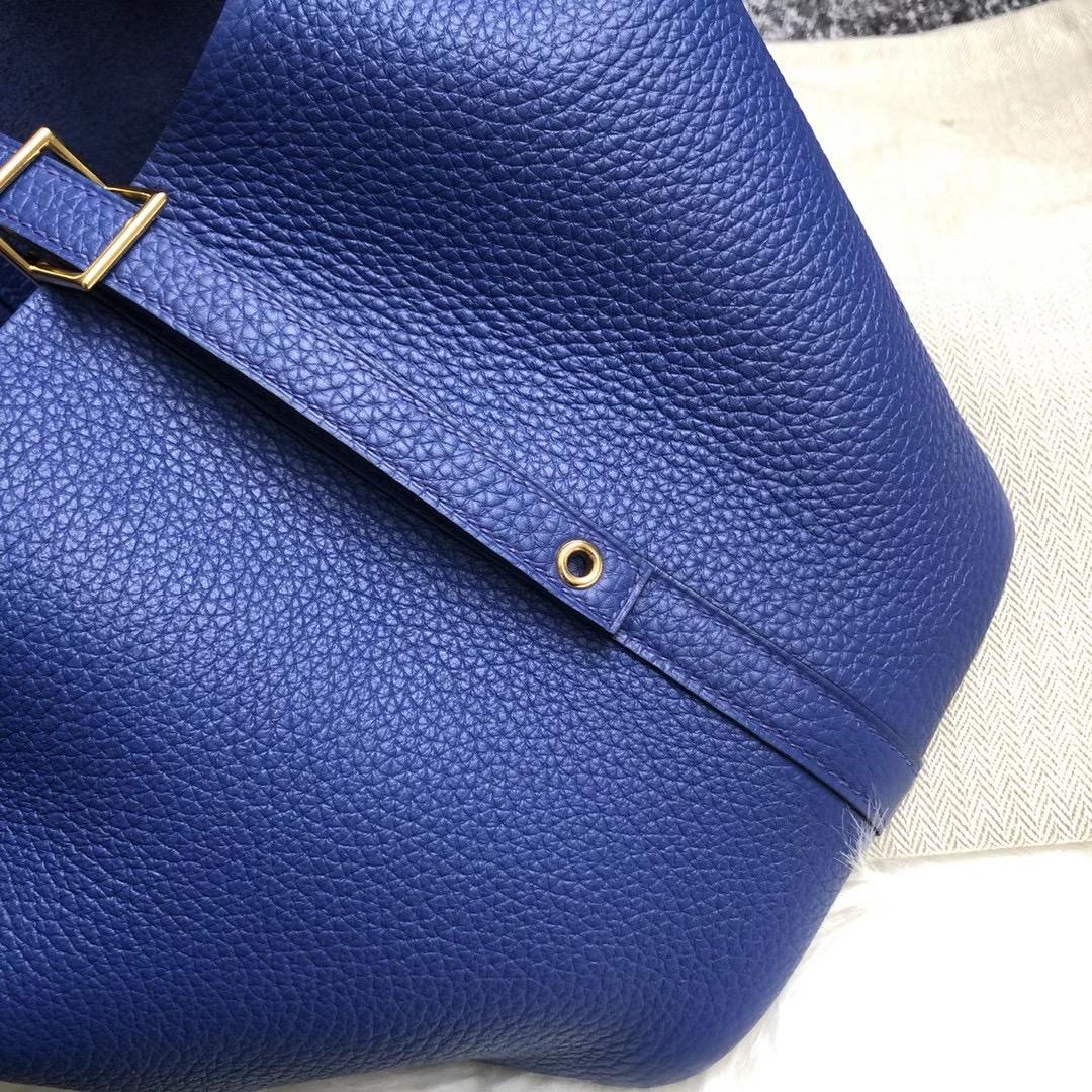 香港深水埗區 深水埗 石硤尾 Hermes Picotin Lock 18cm Clemence 7T Blue Electric