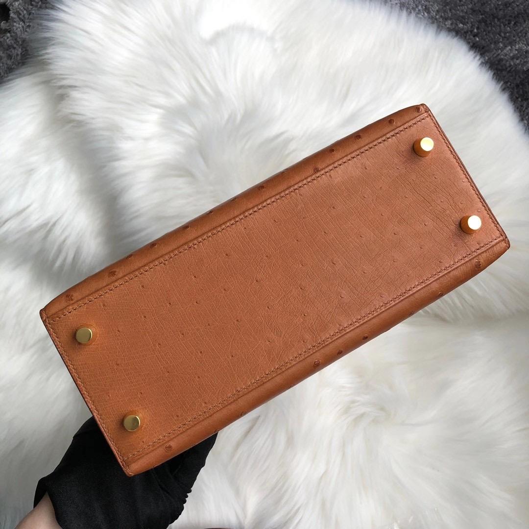 香港西貢區将军澳 愛馬仕凱莉包價格 Hermes Kelly 25cm Ostrich 37 Gold 金棕色